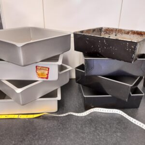 10″ square tins